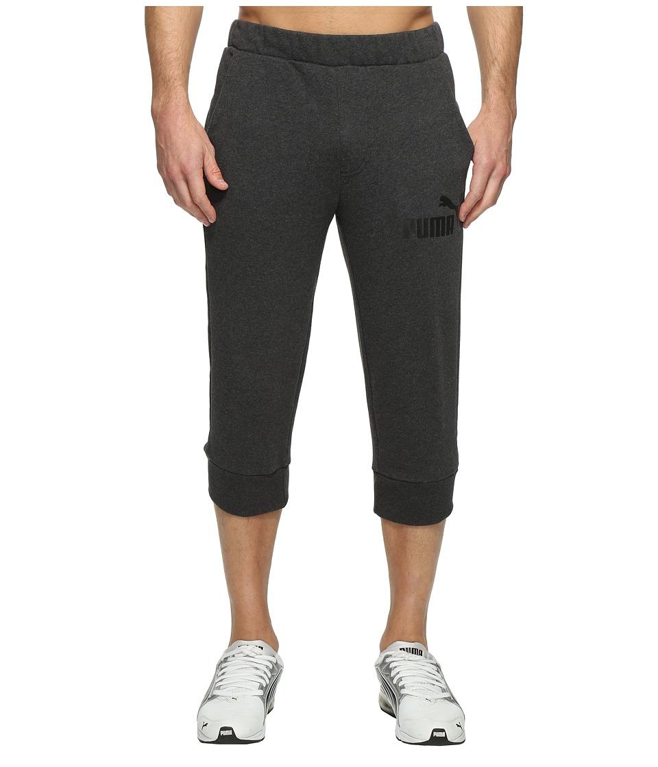 PUMA - ESS No. 1 Logo 3/4 Pants (Dark Gray Heather) Men's Workout