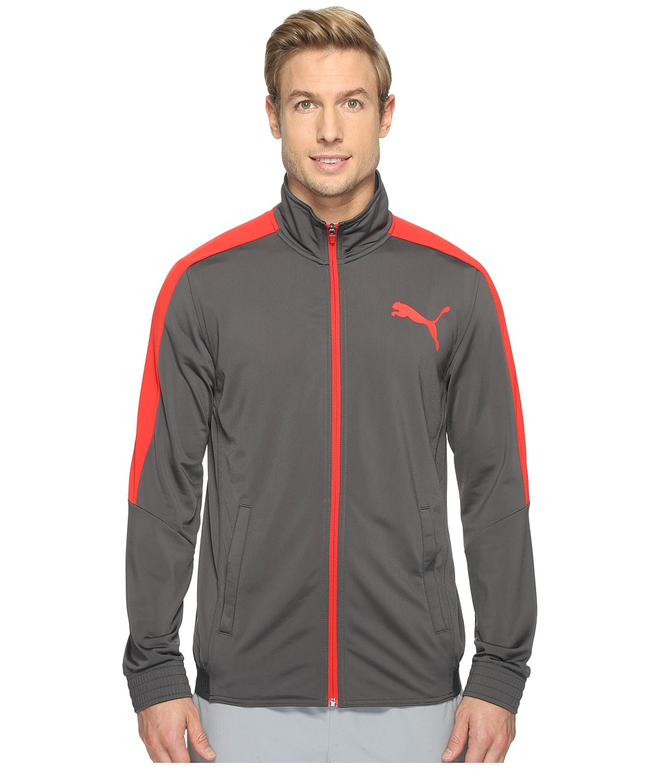 PUMA - Contrast Jacket (Asphalt/PUMA Red) Men's Coat