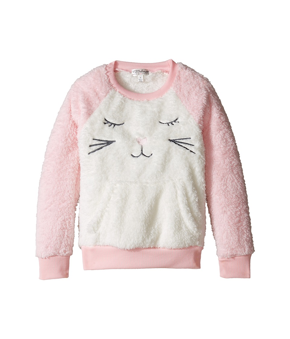 P.J. Salvage Kids - Snow Bunny Plush Top (Toddler/Little Kids/Big Kids) (Pink) Girl's Long Sleeve Pullover