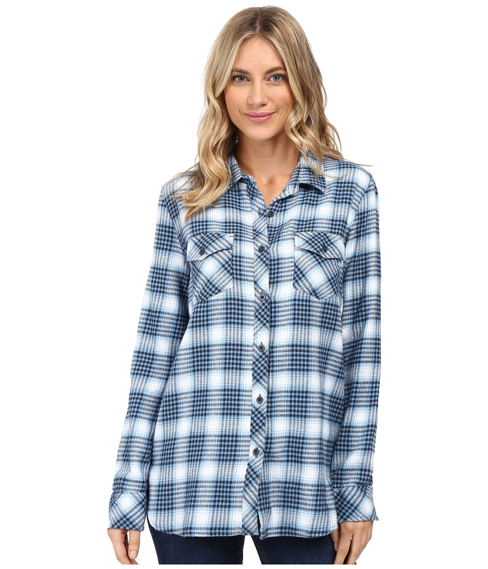 Volcom - Desert High Long Sleeve Top (Dark Navy) Women's Long Sleeve Button Up