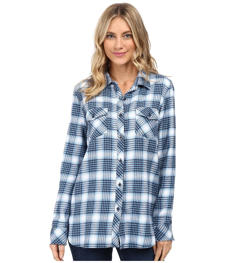 Volcom - Desert High Long Sleeve Top (Dark Navy) Women's Long Sleeve Button Up