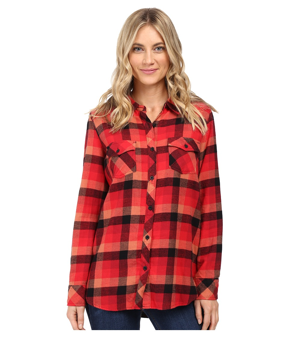 Volcom - Desert High Long Sleeve Top (Scarlet) Women's Long Sleeve Button Up