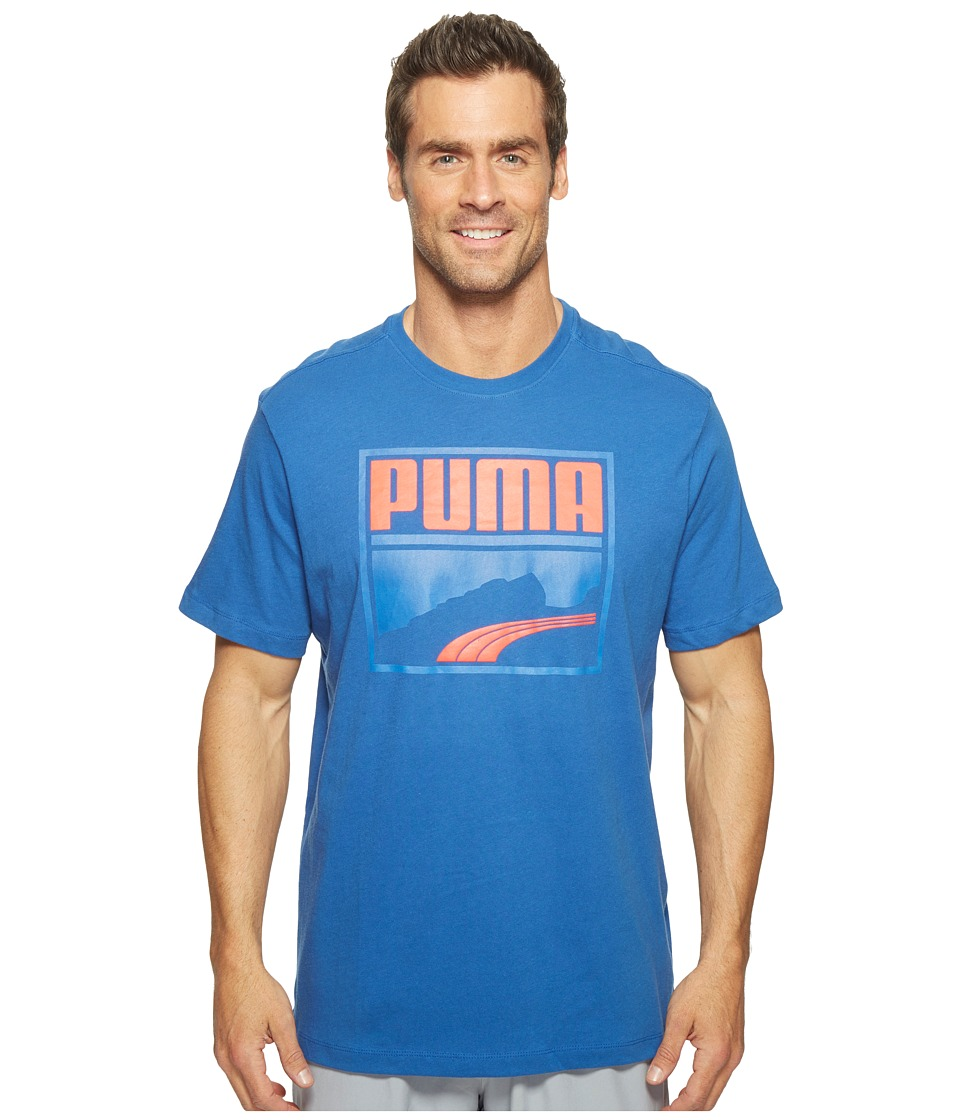 PUMA Contrast Suede Tee (True Blue/Bright Plasma) Men