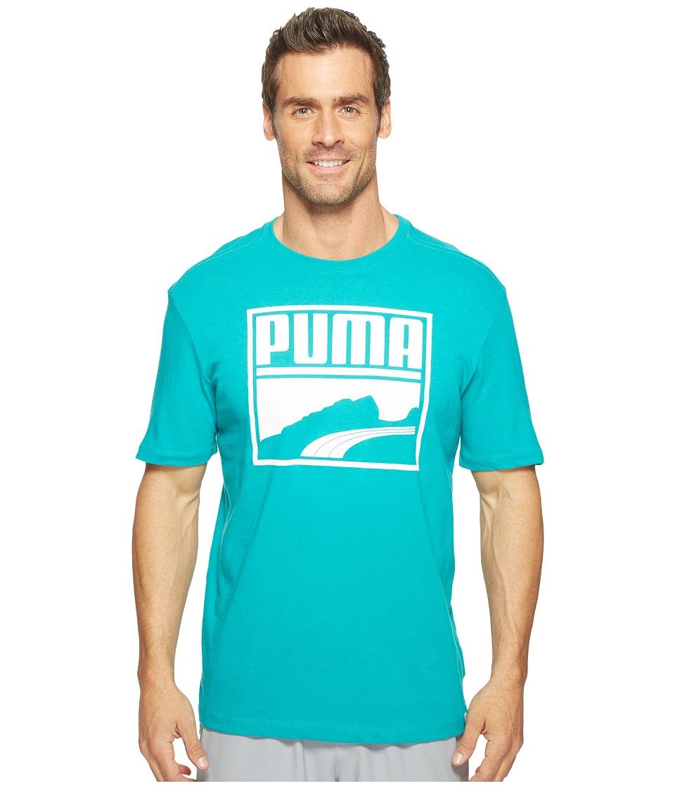 PUMA - Contrast Suede Tee (Navigate/White) Men's T Shirt