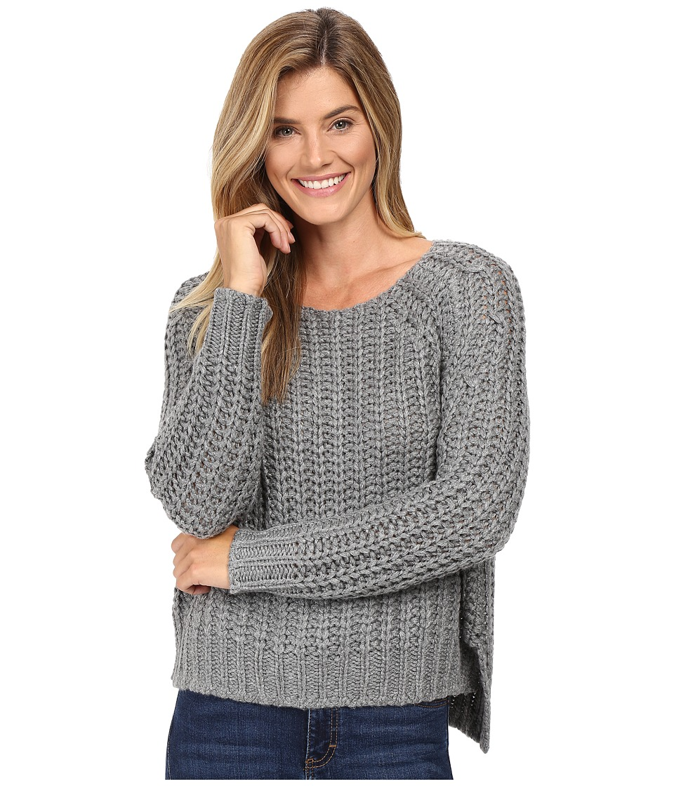 KUT from the Kloth - Page Chunky Crew Neck Top (Grey) Women's Long Sleeve Pullover