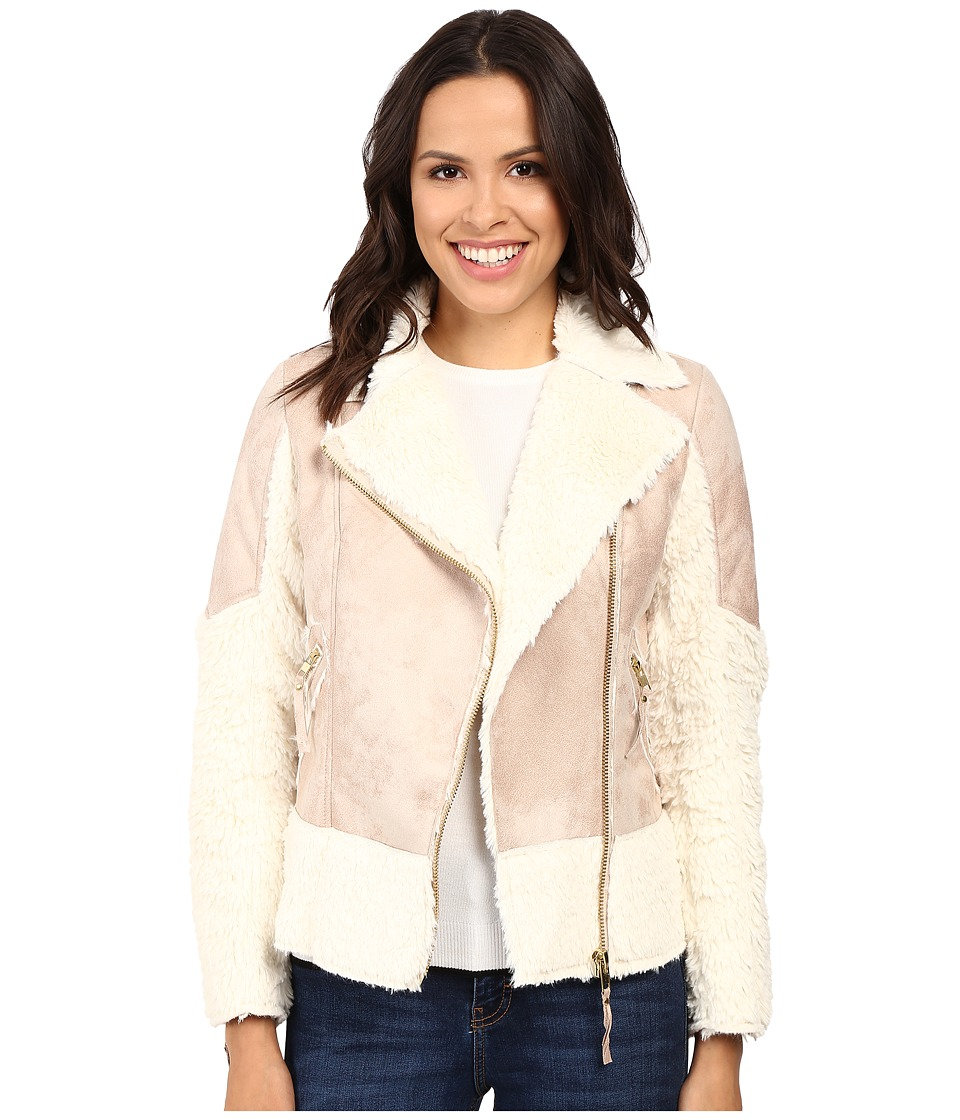 KUT from the Kloth - Baylee Long Sleeve Bonded Coat (Pink/Ivory) Women's Coat