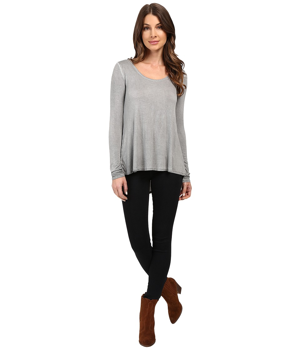 KUT from the Kloth - Journey Long Sleeve Top (Grey) Women's Long Sleeve Pullover
