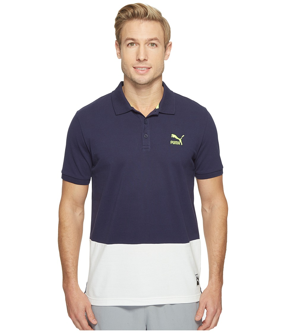 PUMA - Archive Logo Polo (Peacoat) Men's Short Sleeve Knit