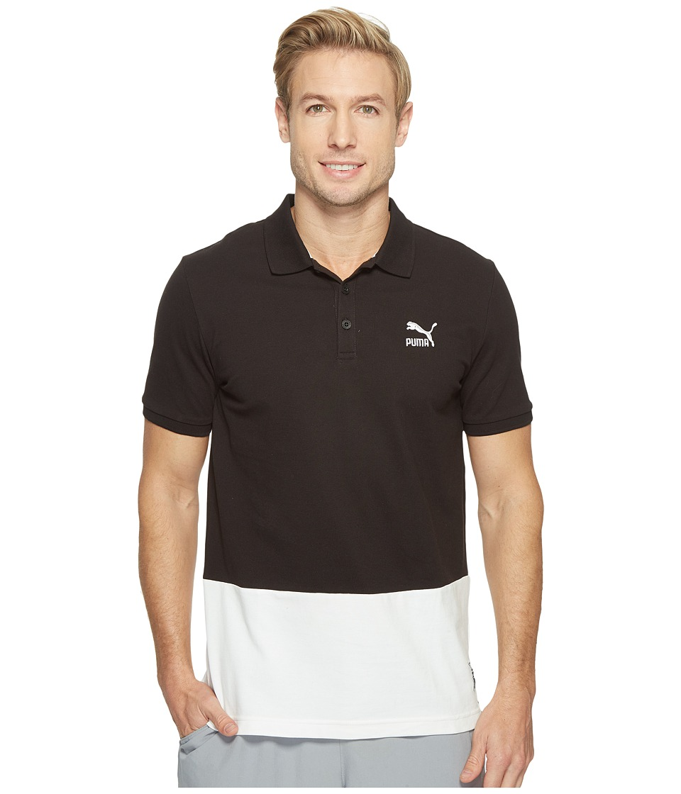 PUMA - Archive Logo Polo (Cotton Black) Men's Short Sleeve Knit