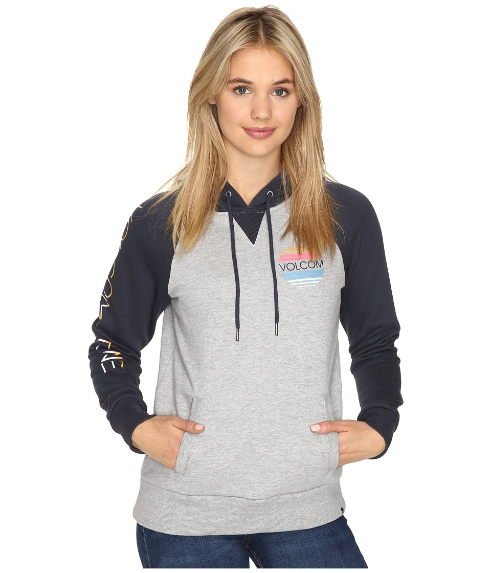 Volcom - Commin Back Hoodie (Heather Grey) Women's Sweatshirt