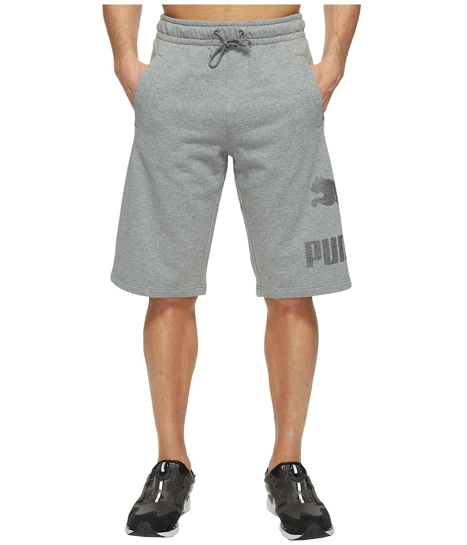 PUMA - Archive Logo Sweat Bermudas (Medium Gray Heather) Men's Shorts