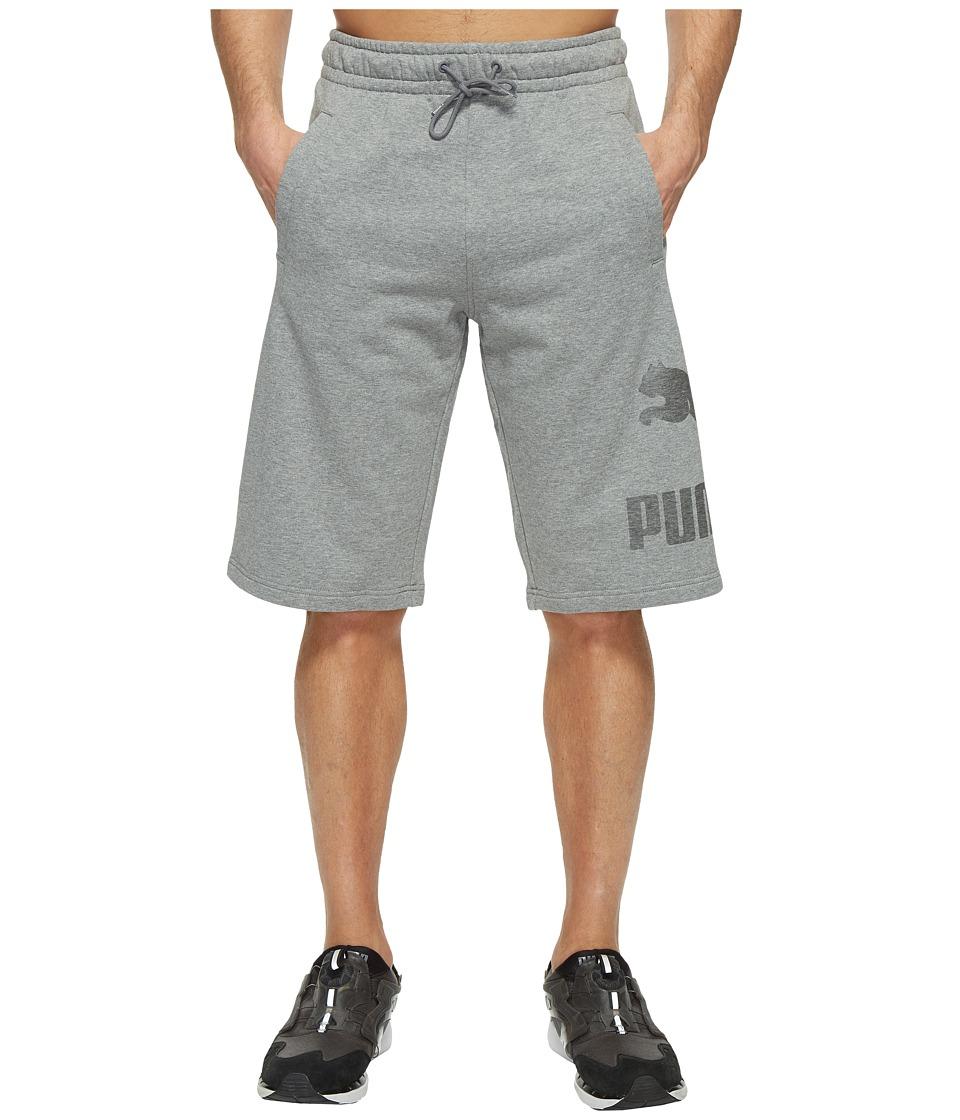 PUMA - Archive Logo Sweat Bermudas (Medium Gray Heather) Men's Shorts