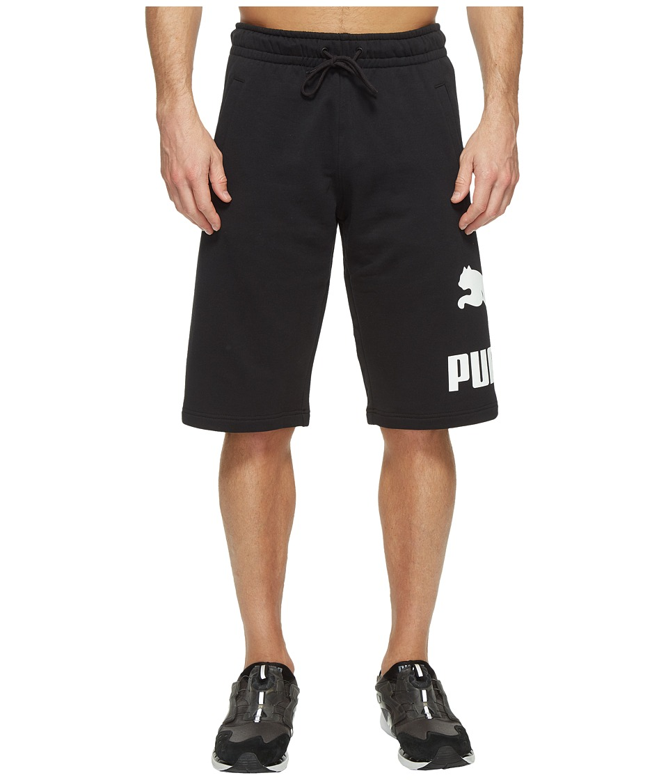 PUMA - Archive Logo Sweat Bermudas (Cotton Black) Men's Shorts