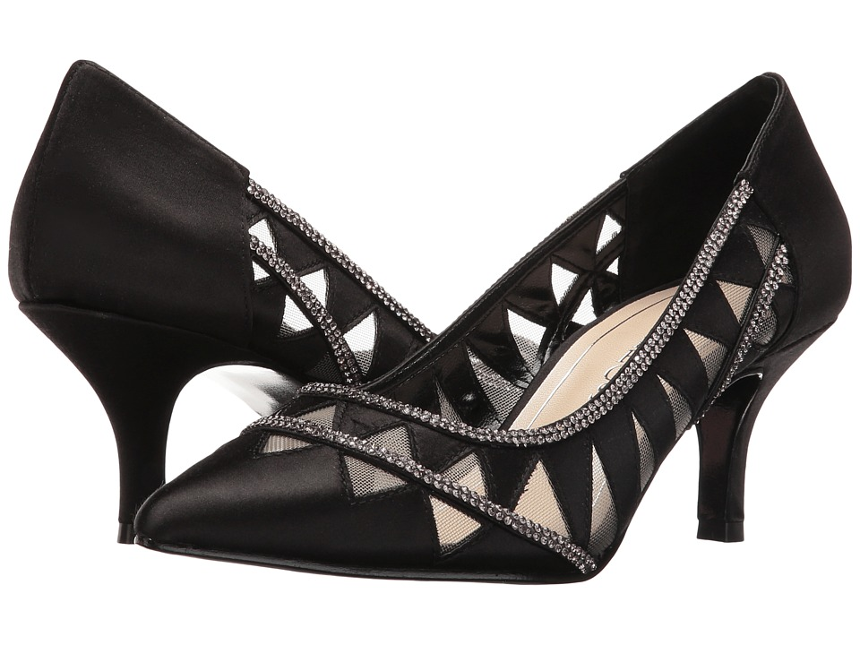 Caparros Fabulous (Black Satin) High Heels