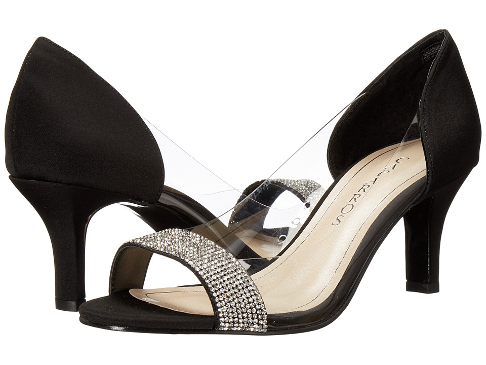 Caparros Fancy (Black/Clear Faille) High Heels