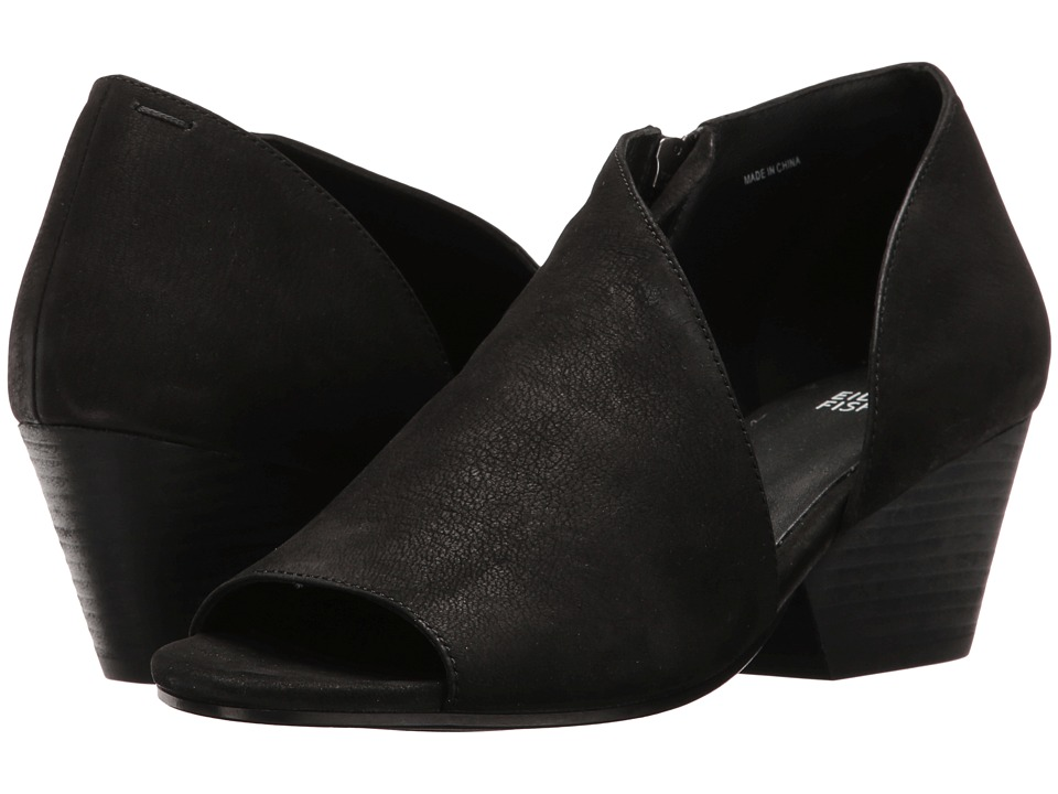 Eileen Fisher Time (Black Tumbled Nubuck) Women