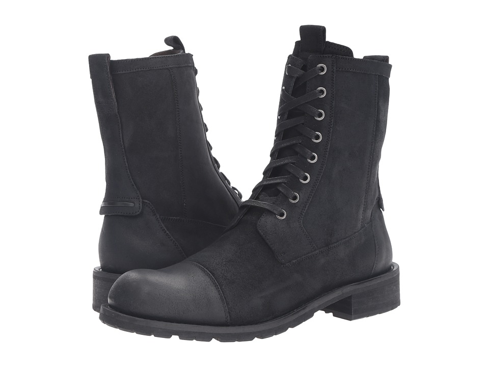 John Varvatos Star S Combat Boot (Black) Men