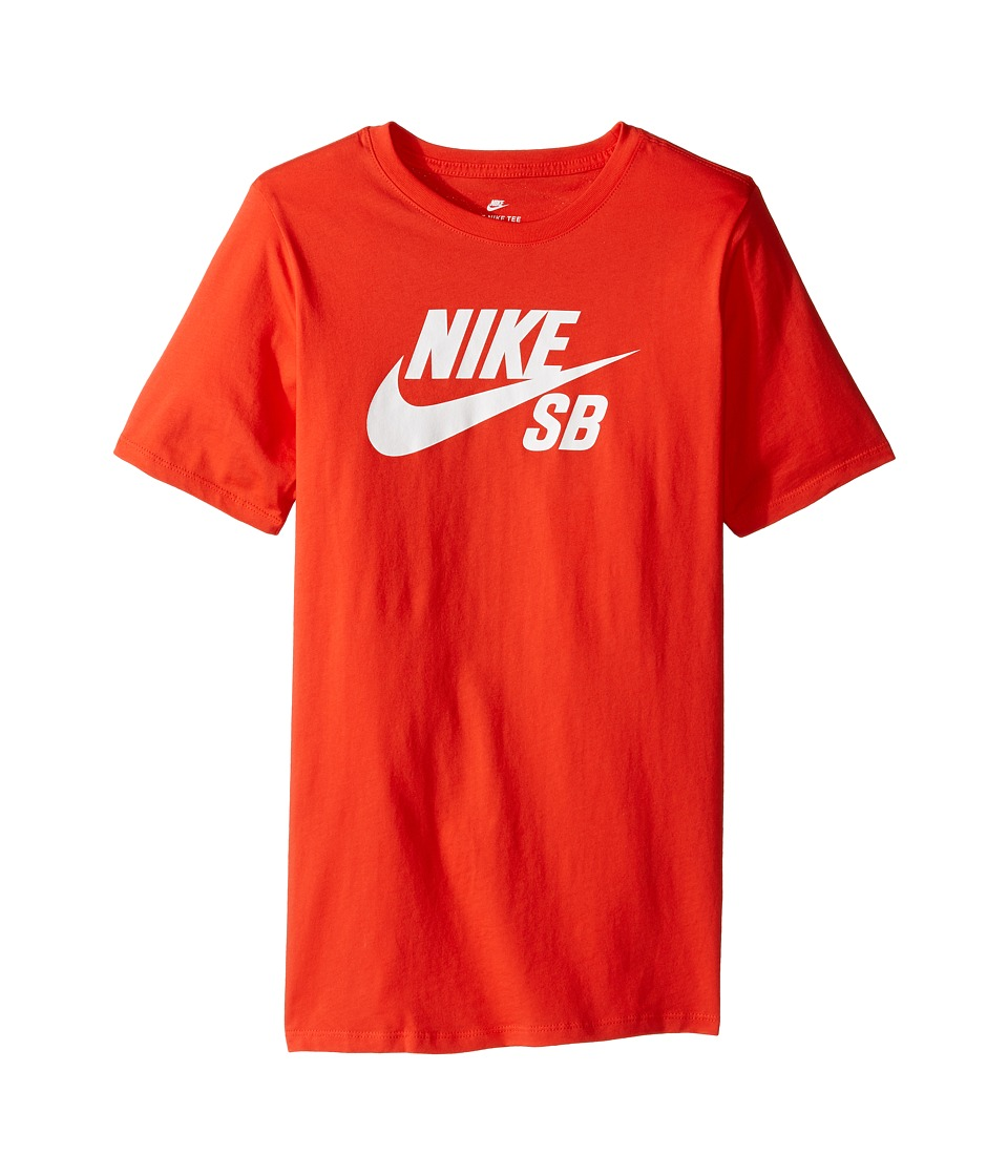 Nike Kids - SB T-Shirt (Little Kids/Big Kids) (Max Orange/Obsidian) Boy's T Shirt