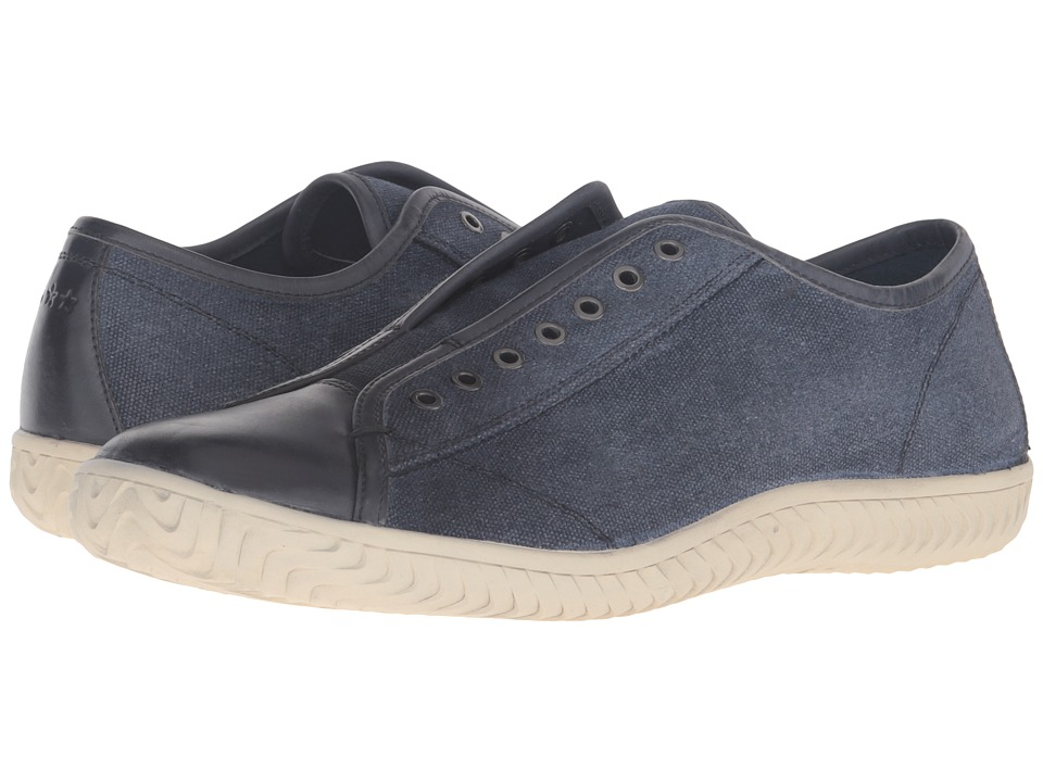 John Varvatos Star Laceless Low Sneaker (Indigo) Men