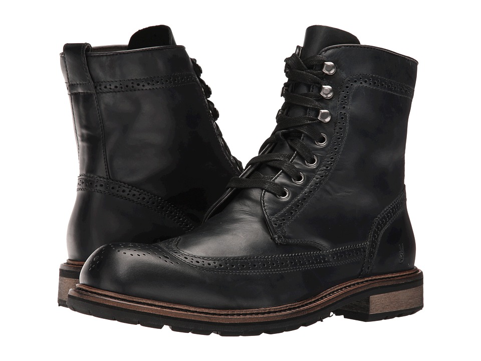 John Varvatos - Star Strummer Winter Wing Tip Boot (Mineral Black) Men