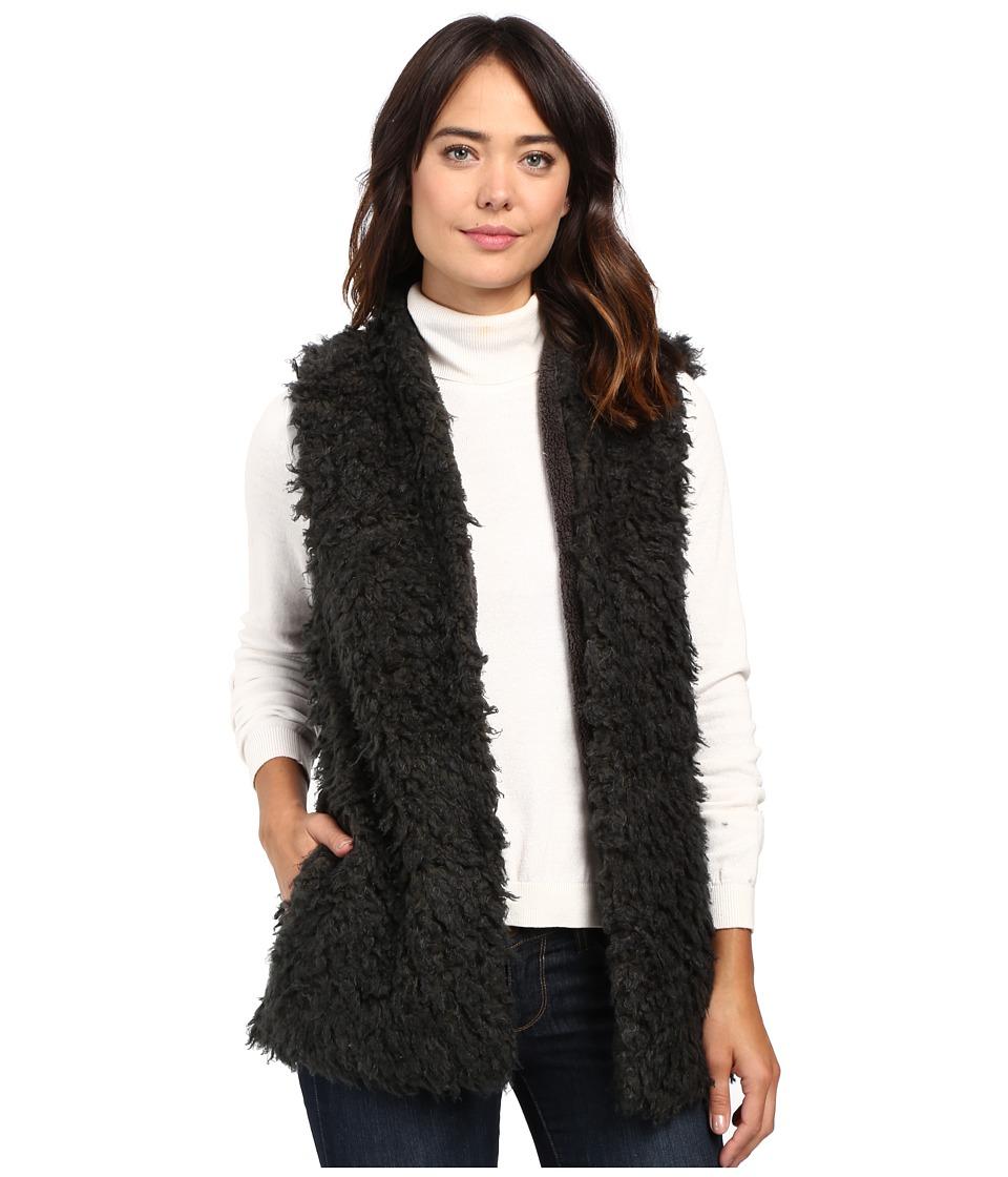 Dylan by True Grit - Vintage Faux Fur Charlotte Vest (Vintage Black) Women's Vest