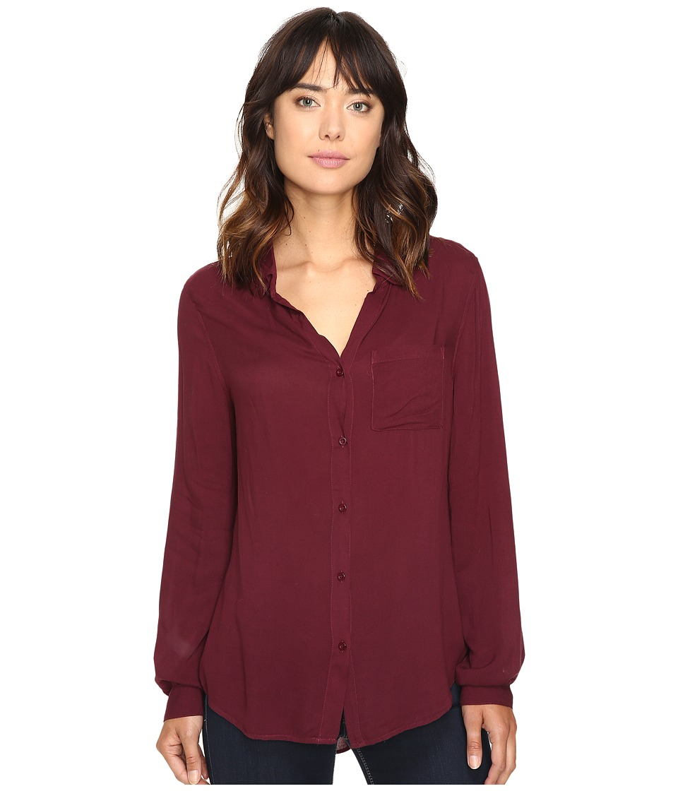 Dylan by True Grit - Soft Classic Blouse (Claret) Women's Blouse