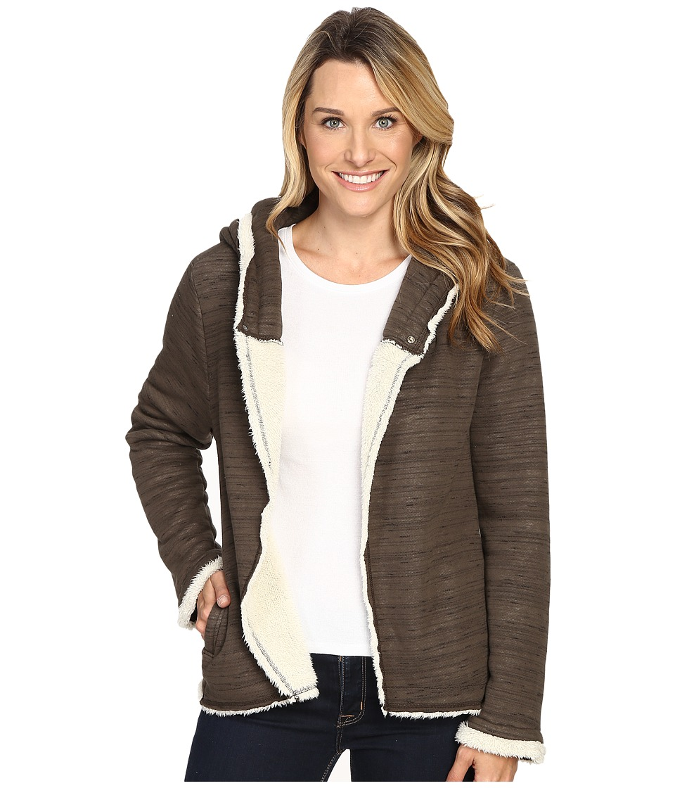 Dylan by True Grit - Slub Knit Cocoon Jacket (Vintage Elm) Women's Coat