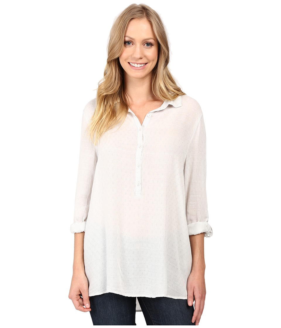 Dylan by True Grit - Dobby Tunic with Roll Sleeves (Pale Sky) Women's Clothing