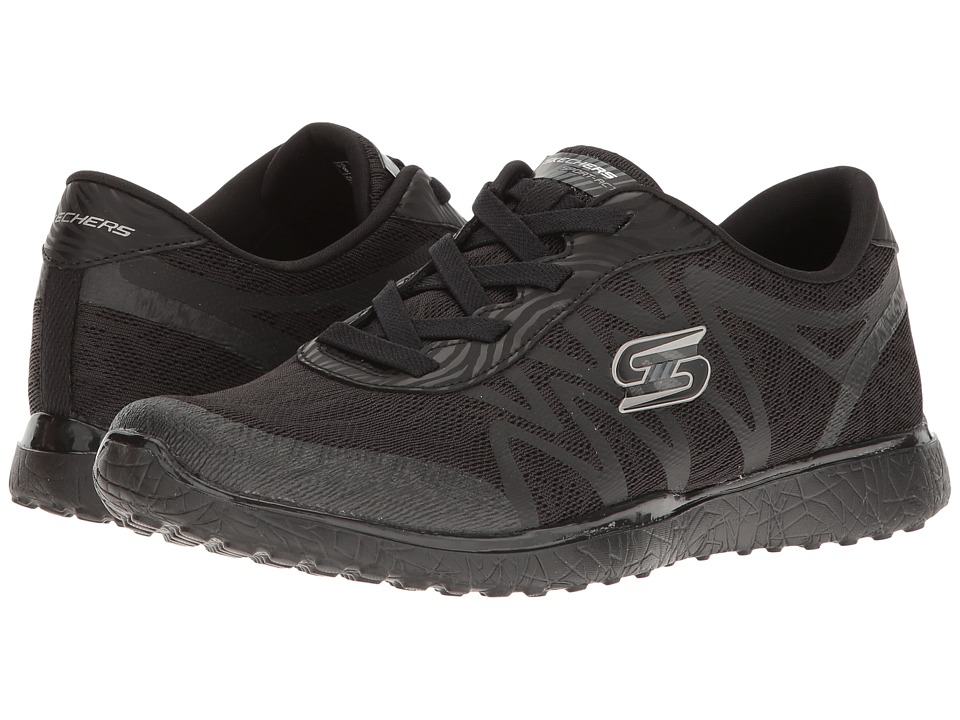 SKECHERS - Microburst (Black) Women's Shoes