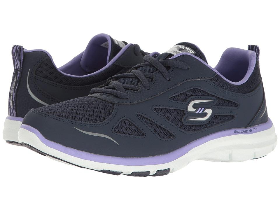 SKECHERS - Galaxies (Navy/Purple) Women's Shoes
