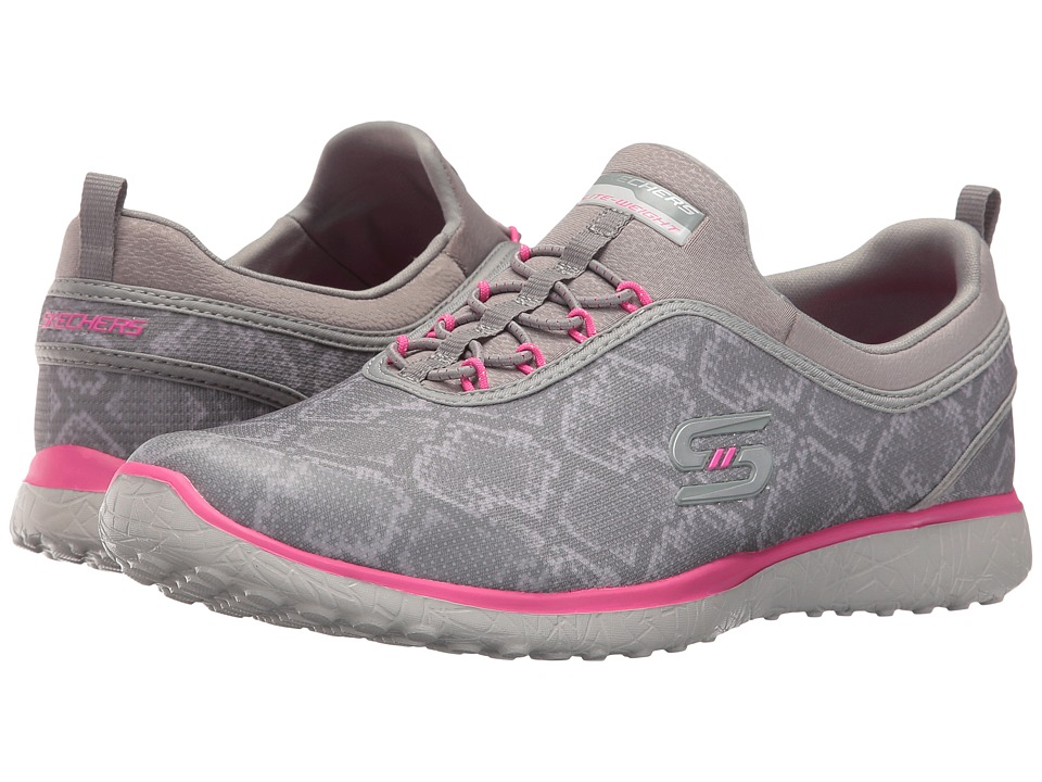 SKECHERS - Microburst - Mamba (Gray/Pink) Women's Shoes