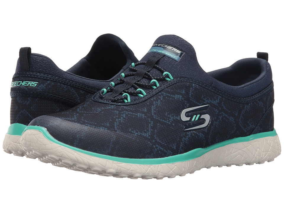SKECHERS - Microburst - Mamba (Navy/Green) Women's Shoes