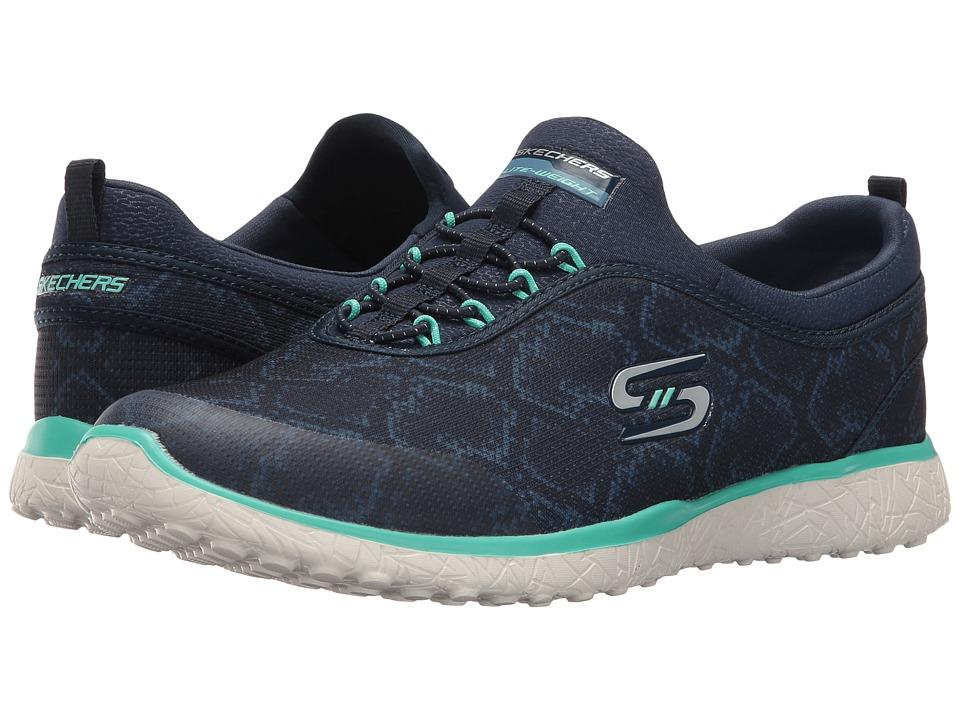 SKECHERS - Microburst - Mamba (Navy/Green) Women's Shoes