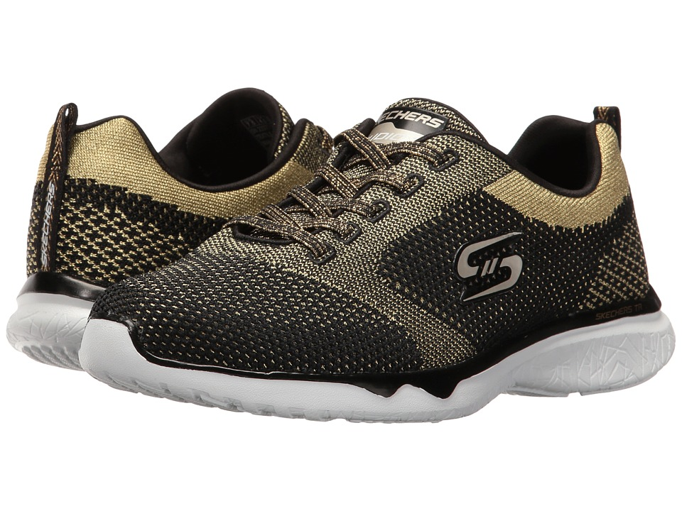 SKECHERS - Studio Burst - Virtual Reality (Black/Gold) Women's Shoes