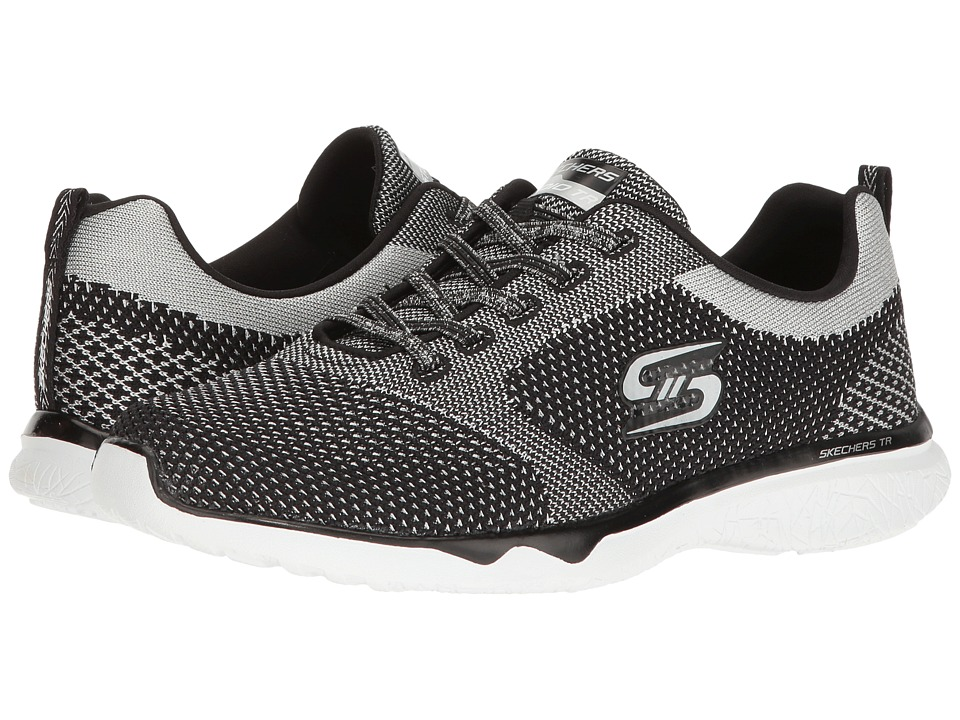 SKECHERS - Studio Burst - Virtual Reality (Black/Silver) Women's Shoes