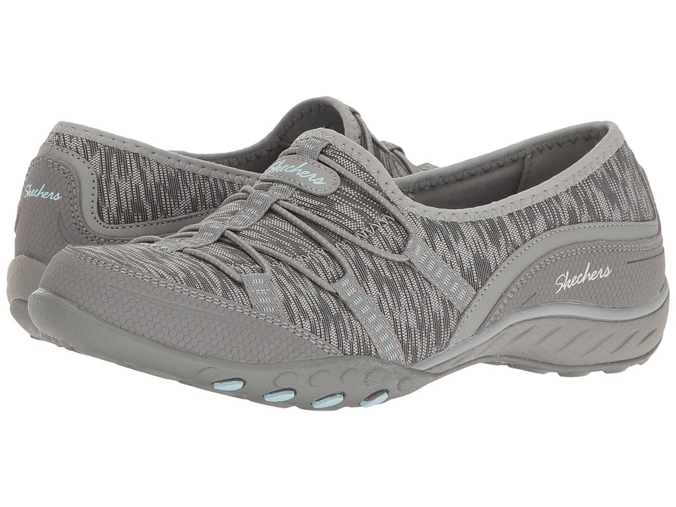 SKECHERS - Breathe-Easy - Golden (Gray) Women's Shoes