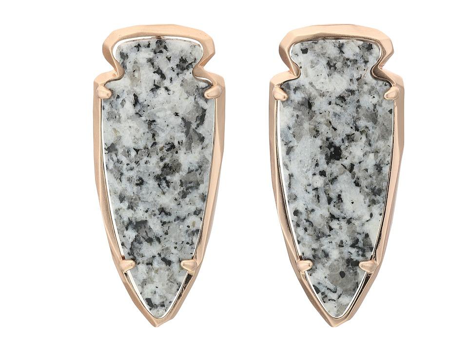 Kendra Scott - Kathryn Earrings (Rose Gold/Gray Granite) Earring