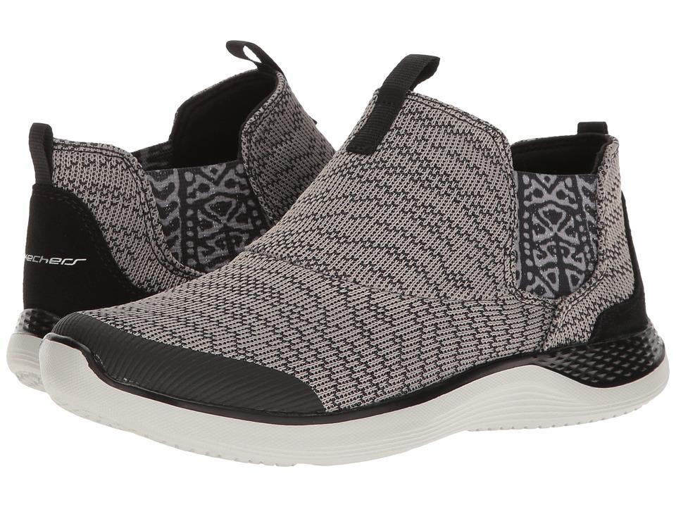 SKECHERS - Knit Chelsea Slip-On Bootie (Gray) Women's Pull-on Boots