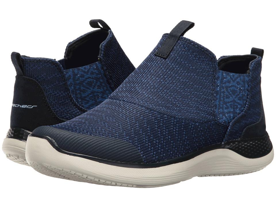 SKECHERS - Knit Chelsea Slip-On Bootie (Navy) Women's Pull-on Boots