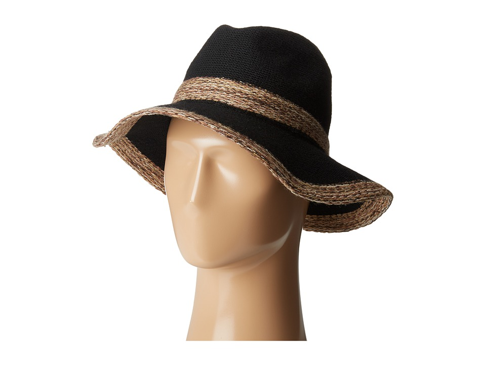 San Diego Hat Company - KNH3435 Knitted Panama Fedora Hat (Black) Fedora Hats