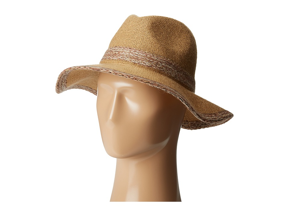 San Diego Hat Company - KNH3435 Knitted Panama Fedora Hat (Camel) Fedora Hats