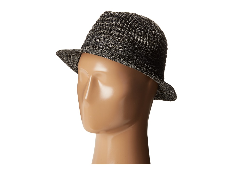 San Diego Hat Company - KNH3434 Solid Knit Fedora (Black) Fedora Hats