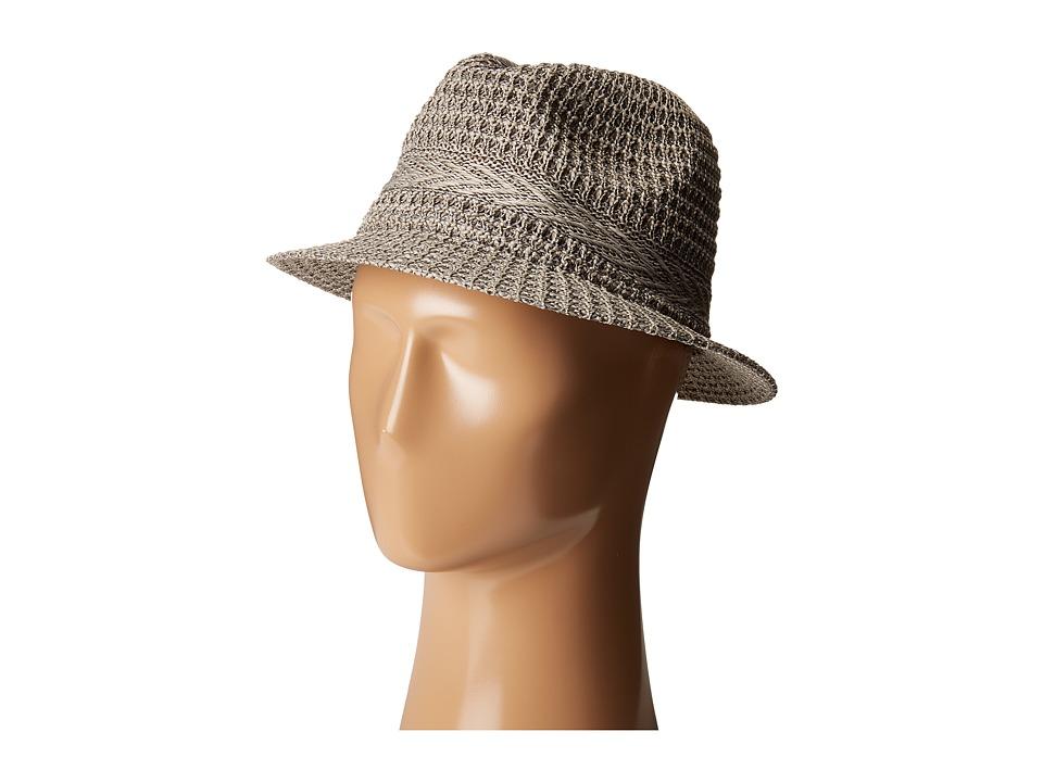 San Diego Hat Company - KNH3434 Solid Knit Fedora (Grey) Fedora Hats