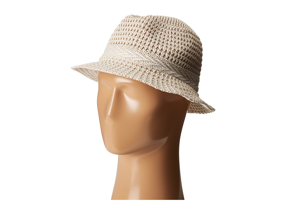 San Diego Hat Company - KNH3434 Solid Knit Fedora (Ivory) Fedora Hats