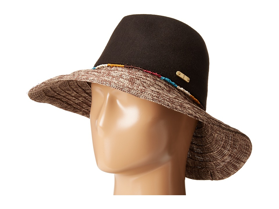 San Diego Hat Company - WFH8031 Wool Crown Fedora Hat (Brown) Fedora Hats