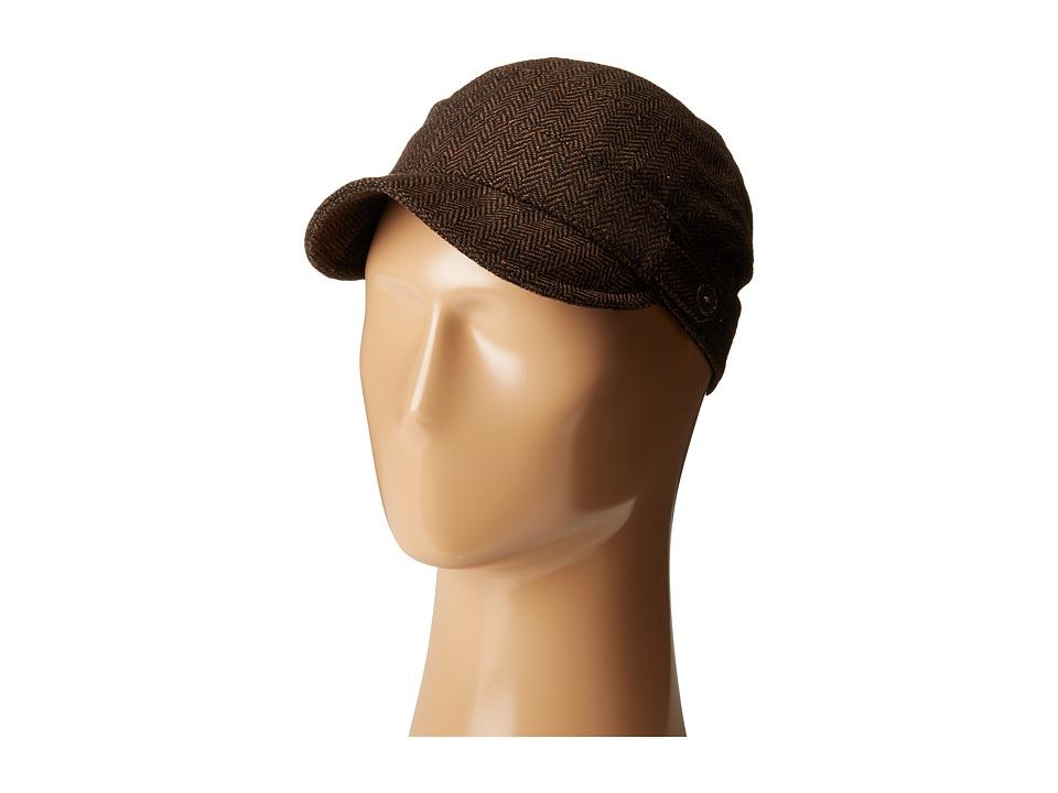 San Diego Hat Company - CTH8047 Herringbone Cadet Cap (Brown) Caps