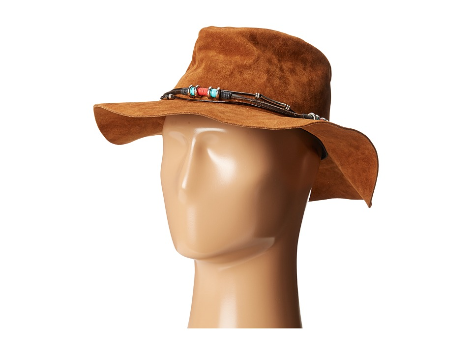 San Diego Hat Company - CTH8038 Faux Suede Fedora Hat (Tobacco) Fedora Hats