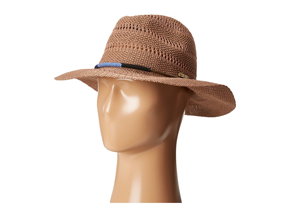 San Diego Hat Company - KNH3394 Knitted Panama Fedora Hat (Camel) Fedora Hats