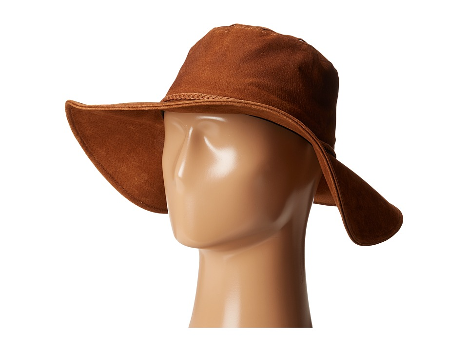 San Diego Hat Company - CTH8040 Suede Floppy Hat (Tobacco) Caps