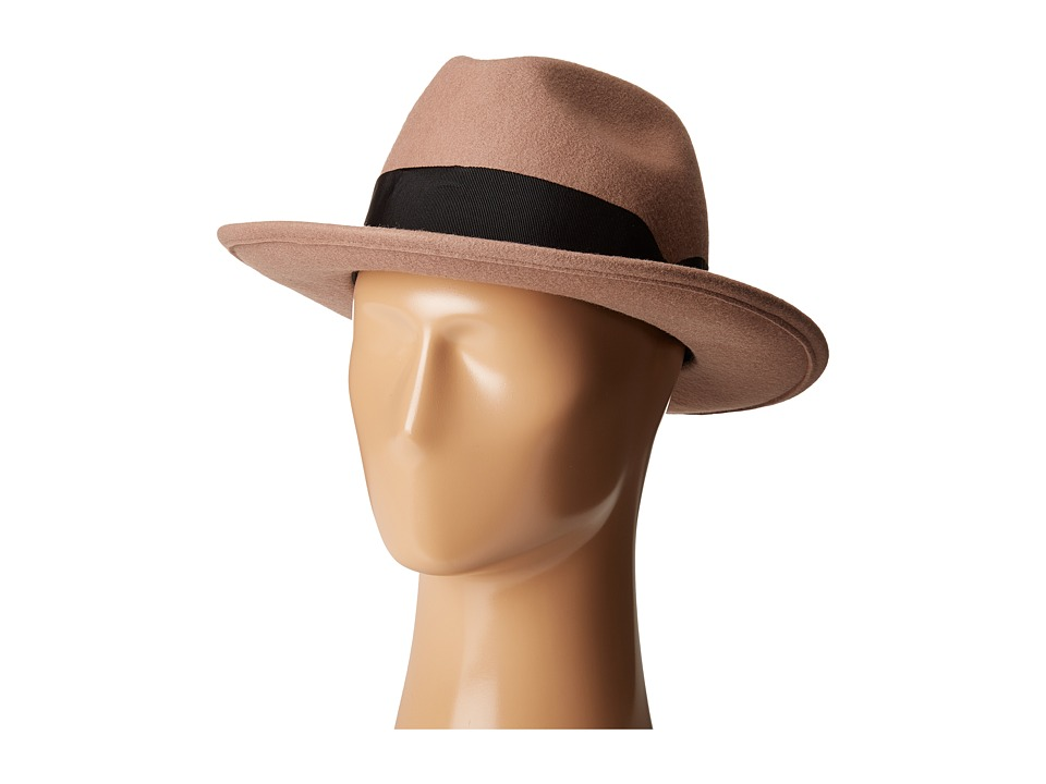 San Diego Hat Company - WFH8033 Felt Fedora Hat (Camel) Fedora Hats